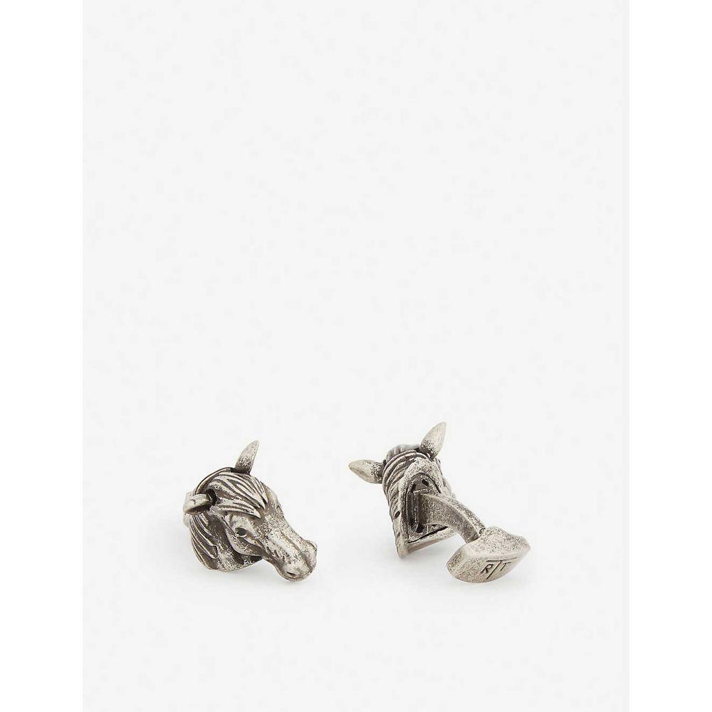 タテオシアン TATEOSSIAN メンズ カフス・カフリンクス 【Mechanical horse cufflinks】Silver