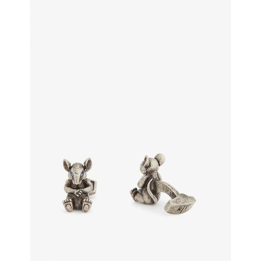 タテオシアン TATEOSSIAN メンズ カフス・カフリンクス 【Rat cufflinks】SILVER