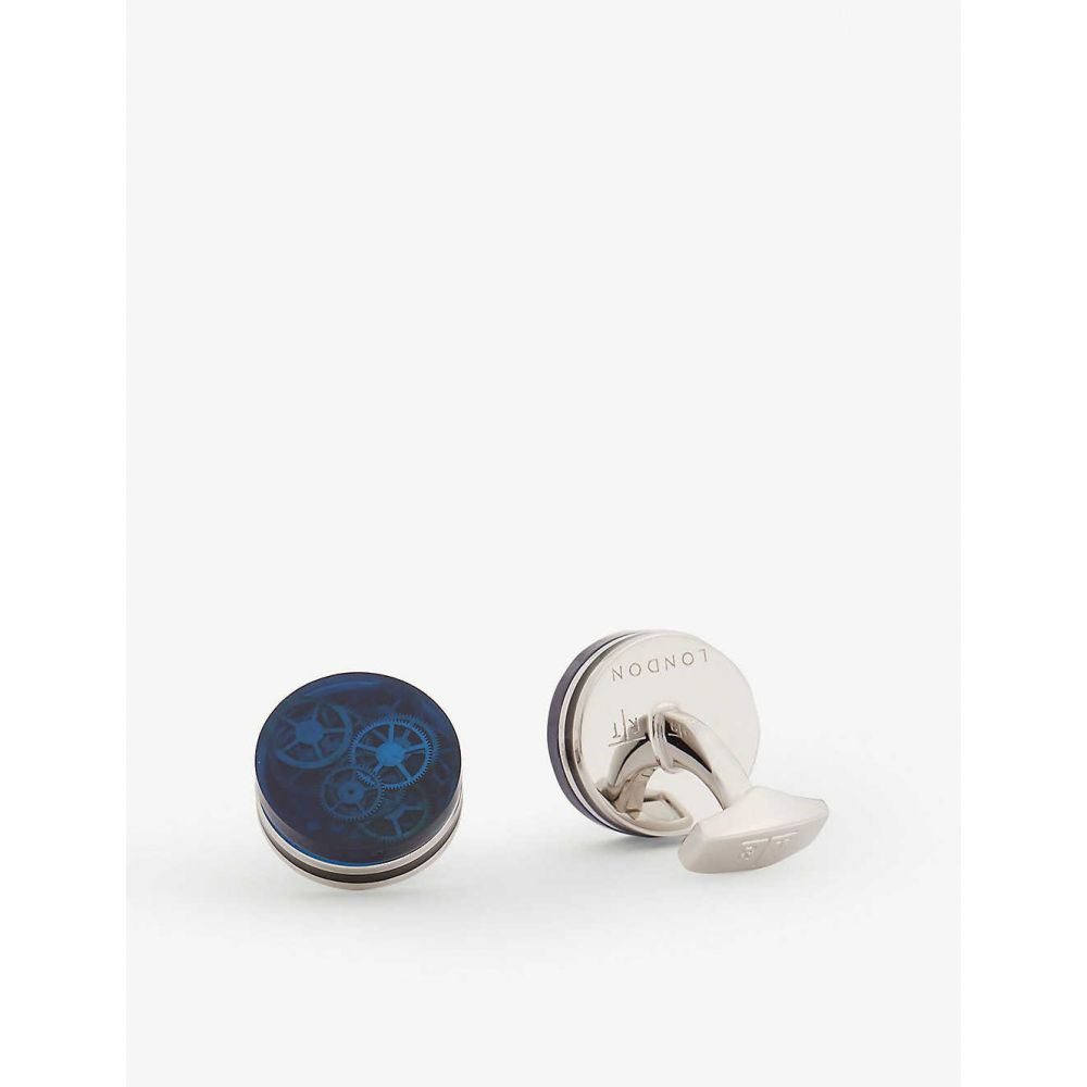 タテオシアン TATEOSSIAN メンズ カフス・カフリンクス 【Gear cufflinks】BLUE