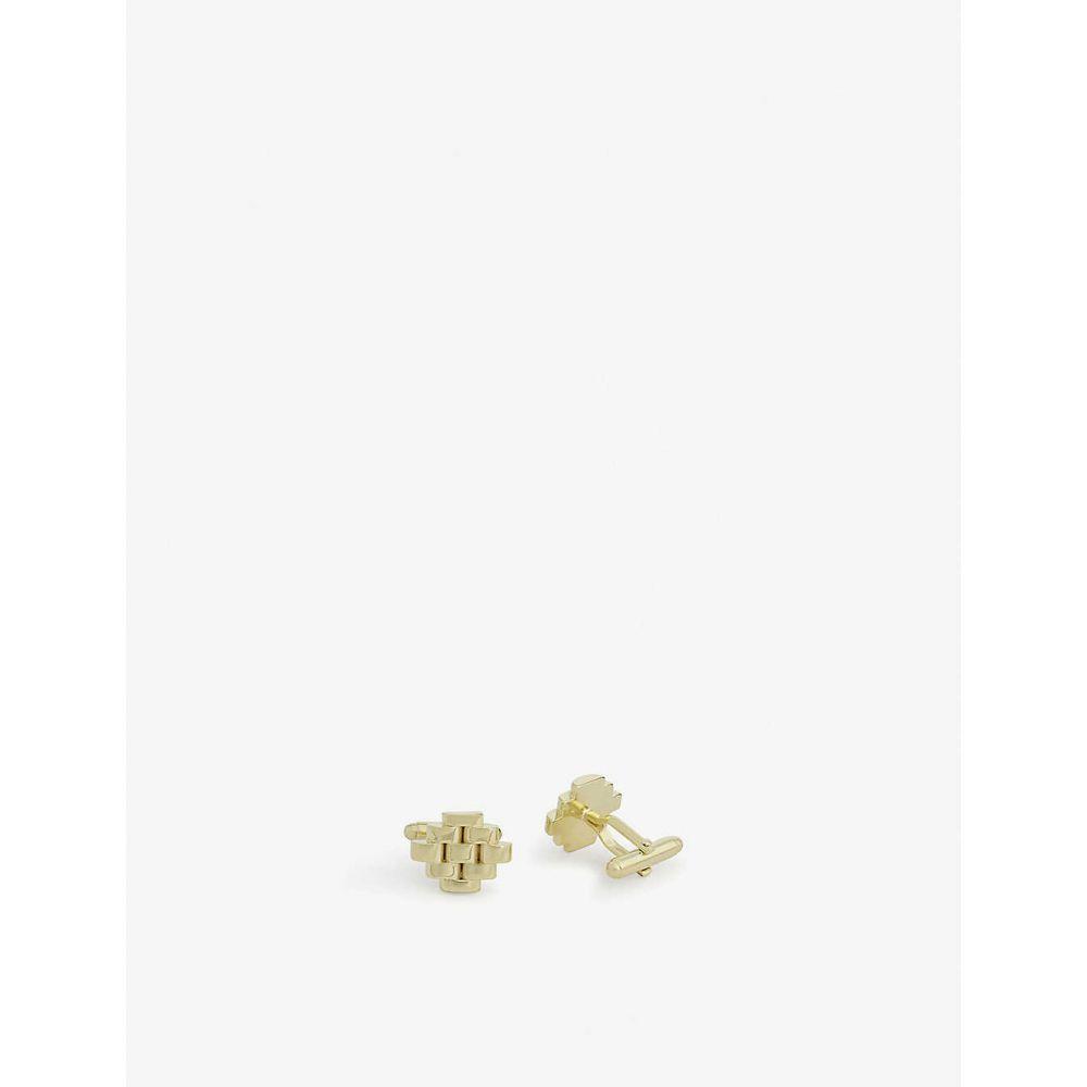 ランバン LANVIN メンズ カフス・カフリンクス 【Interwoven cufflinks】GOLD