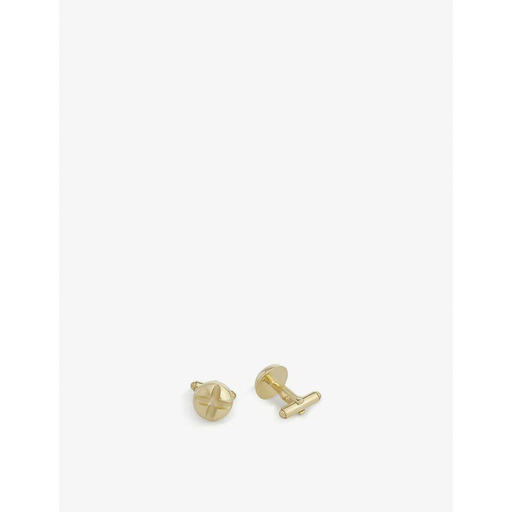 ランバン LANVIN メンズ カフス・カフリンクス 【Screw head cufflinks】GOLD