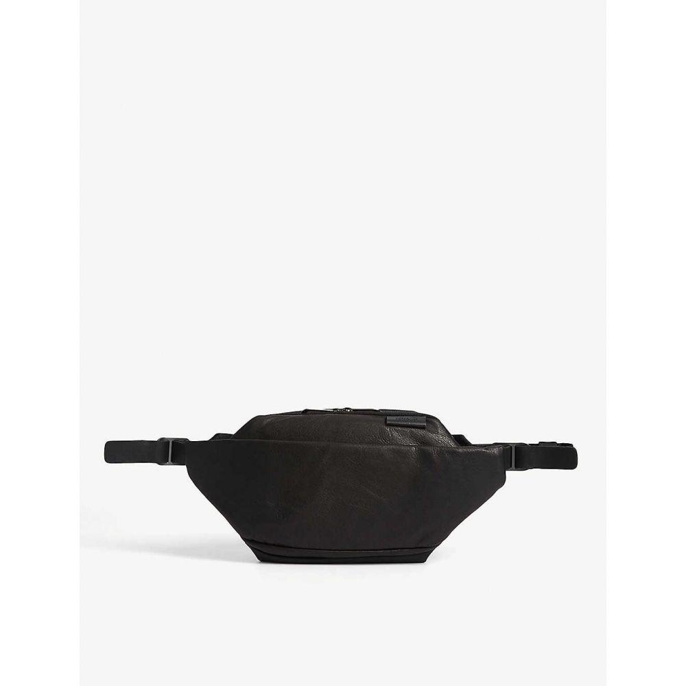 コート エ シエル COTE & CIEL メンズ ボディバッグ・ウエストポーチ バッグ【Isarau small water-resistant leather belt bag】BLACK
