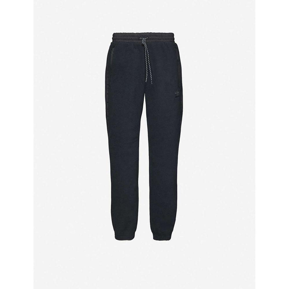 アディダス ADIDAS メンズ スウェット・ジャージ ボトムス・パンツ【Trefoil-embroidered fleece jogging bottoms】BLACK