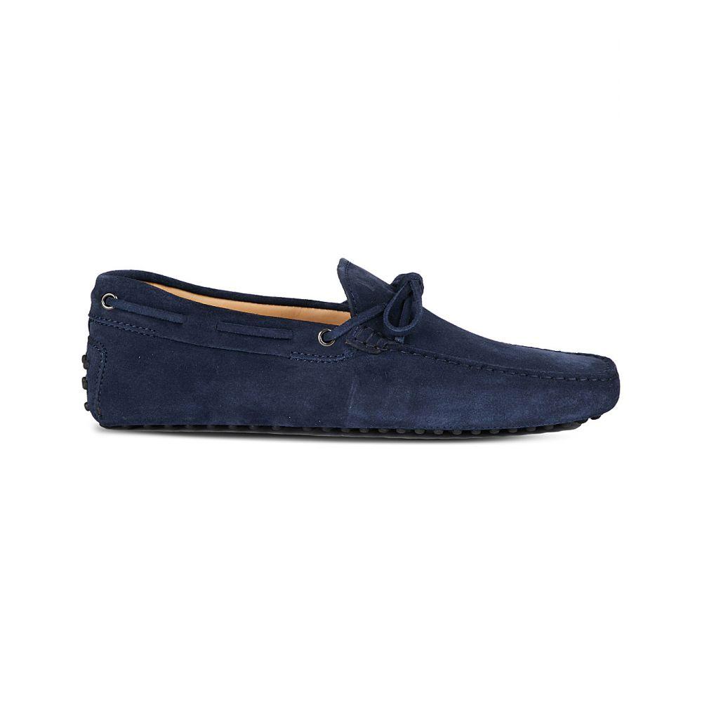 トッズ TODS メンズ ドライビングシューズ シューズ・靴【Gommino heaven suede driving shoes】Blue
