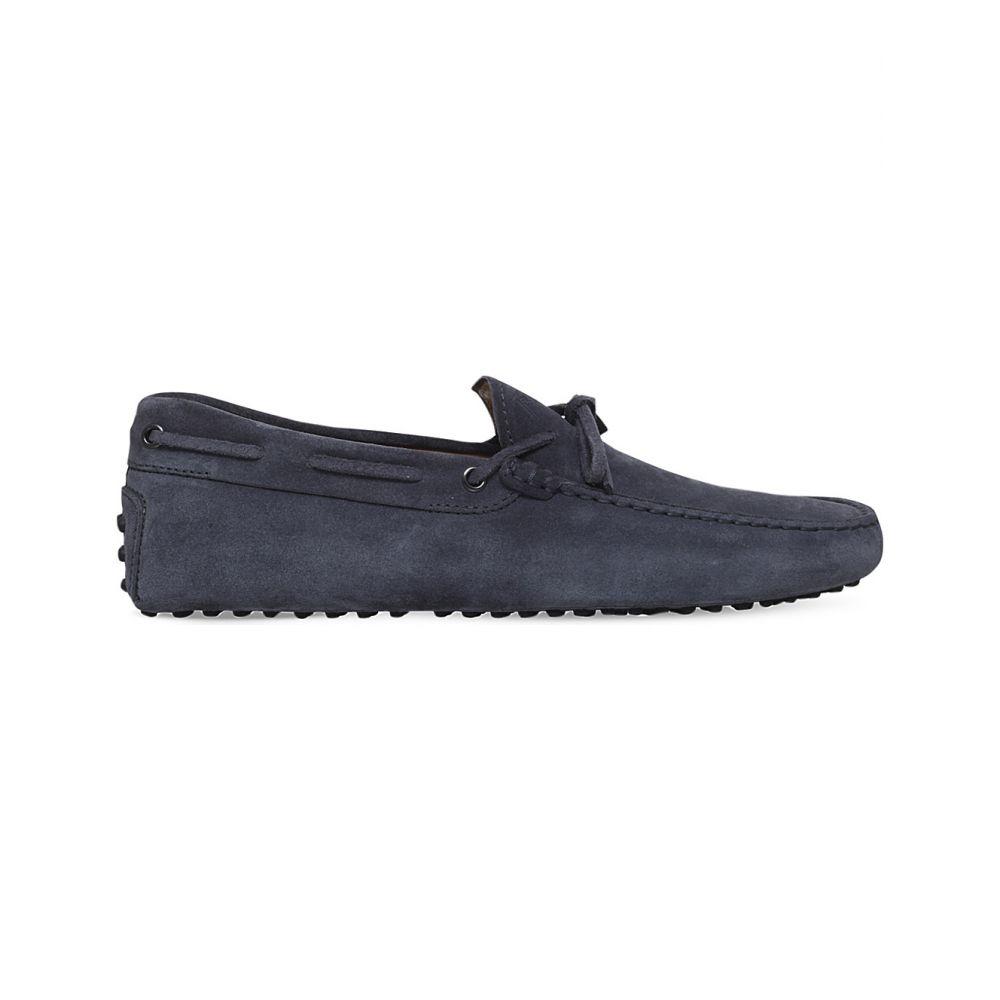 トッズ TODS メンズ ドライビングシューズ シューズ・靴【122 suede driver shoes】Grey