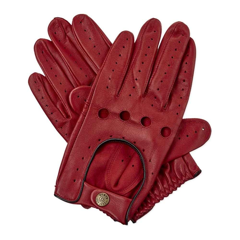 デンツ DENTS メンズ 手袋・グローブ 【Leather driving gloves】BERRY/BLACK