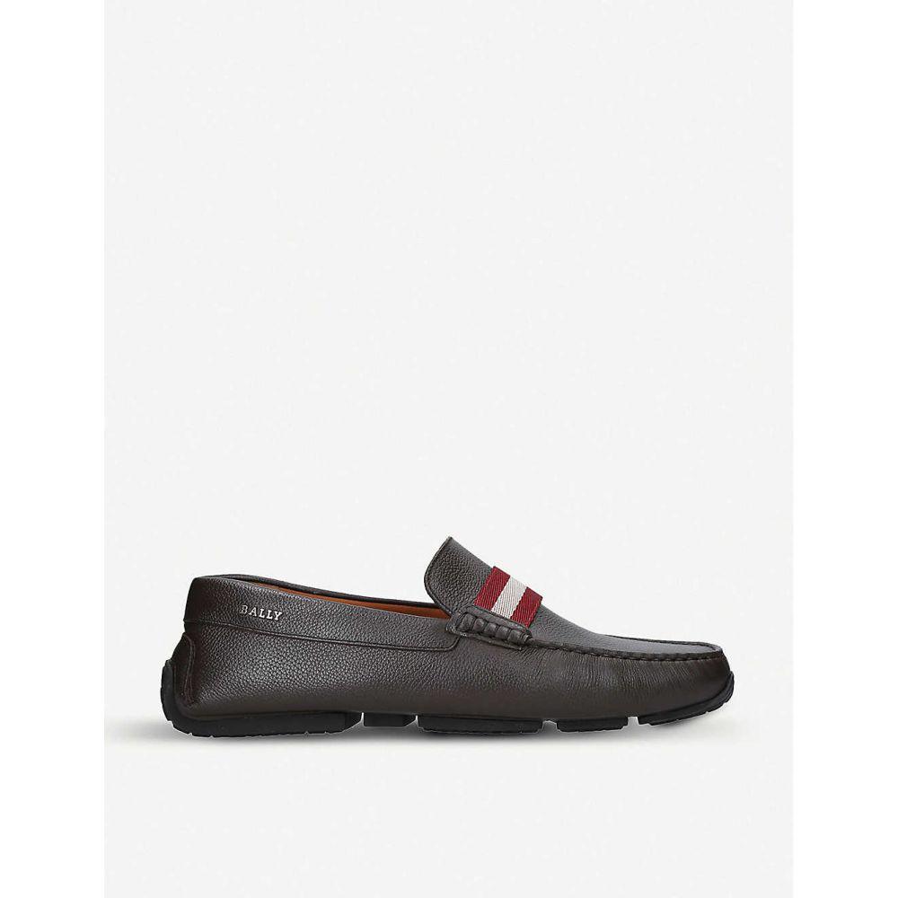 バリー BALLY メンズ ドライビングシューズ シューズ・靴【Pearce leather driving shoes】Dark brown
