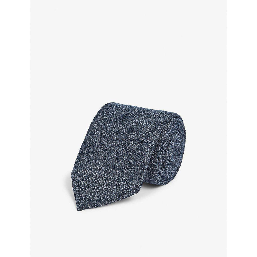 イートン ETON メンズ ネクタイ 【Wool and silk tie】Green