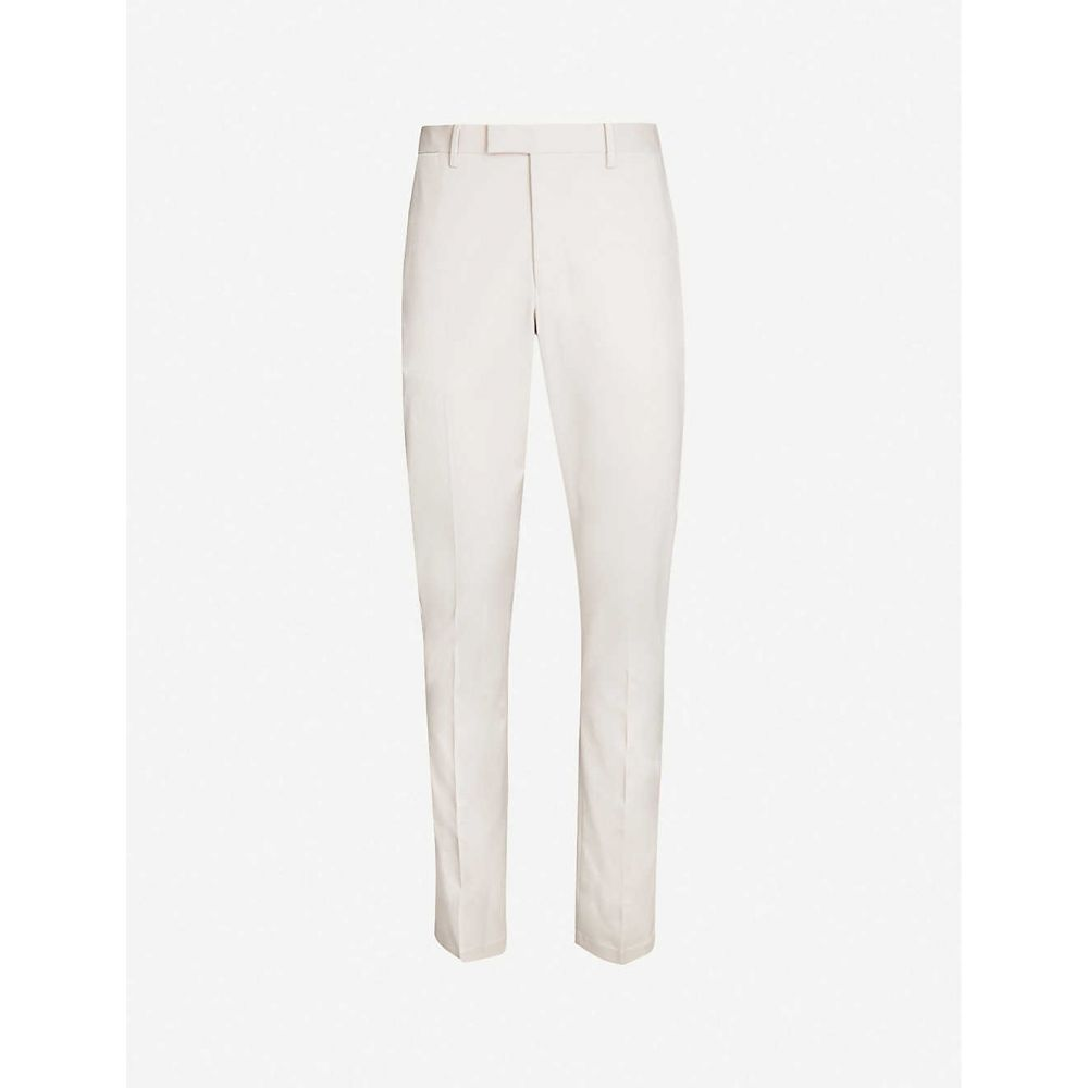 リース REISS メンズ スキニー・スリム ボトムス・パンツ【Eastbury slim-fit straight stretch-cotton trousers】STONE