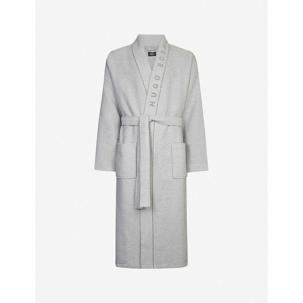 ヒューゴ ボス BOSS メンズ ガウン・バスローブ インナー・下着【Waffle cotton logo robe】MEDIUM GREY