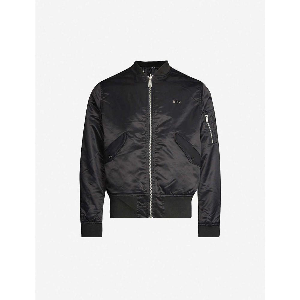 ボーイロンドン BOY LONDON メンズ ブルゾン ミリタリージャケット アウター【Reversible logo-print bomber jacket】BLACK