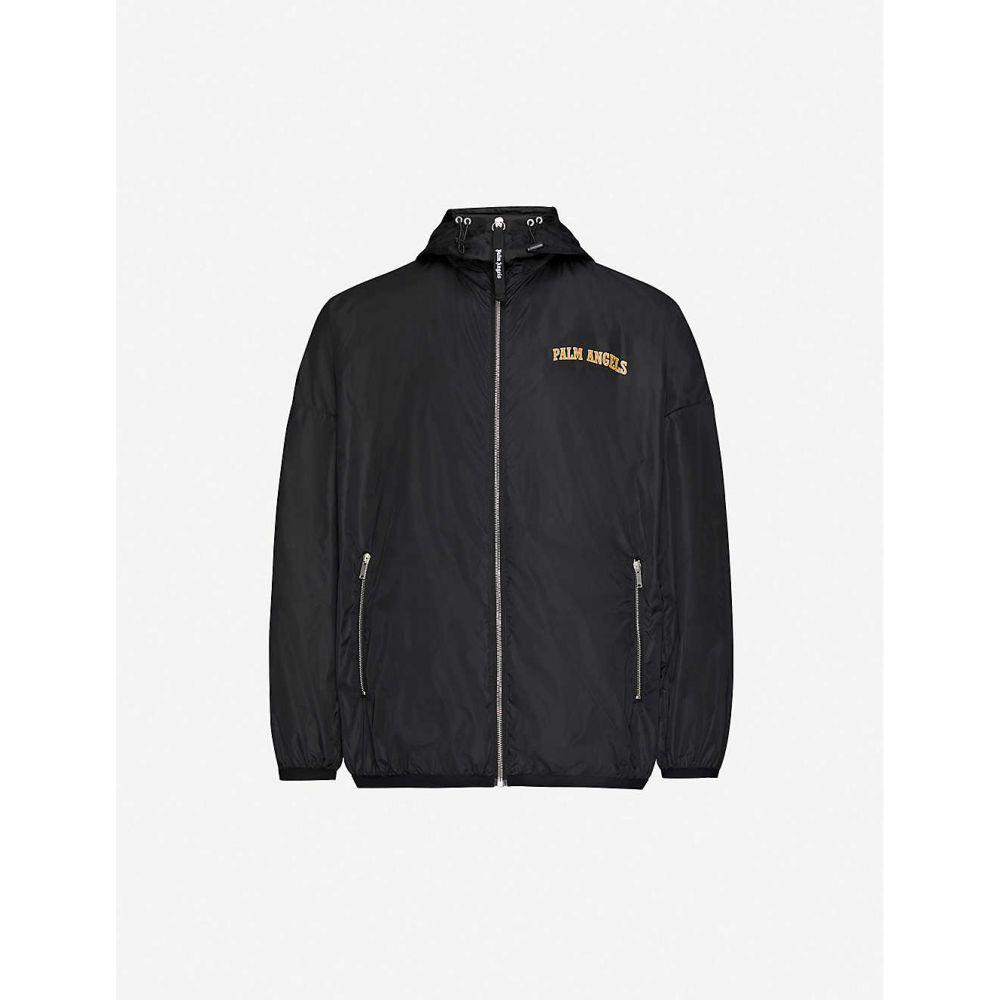 パーム エンジェルス PALM ANGELS メンズ ジャケット フード シェルジャケット アウター【Logo-print hooded shell jacket】BLACK MULTI