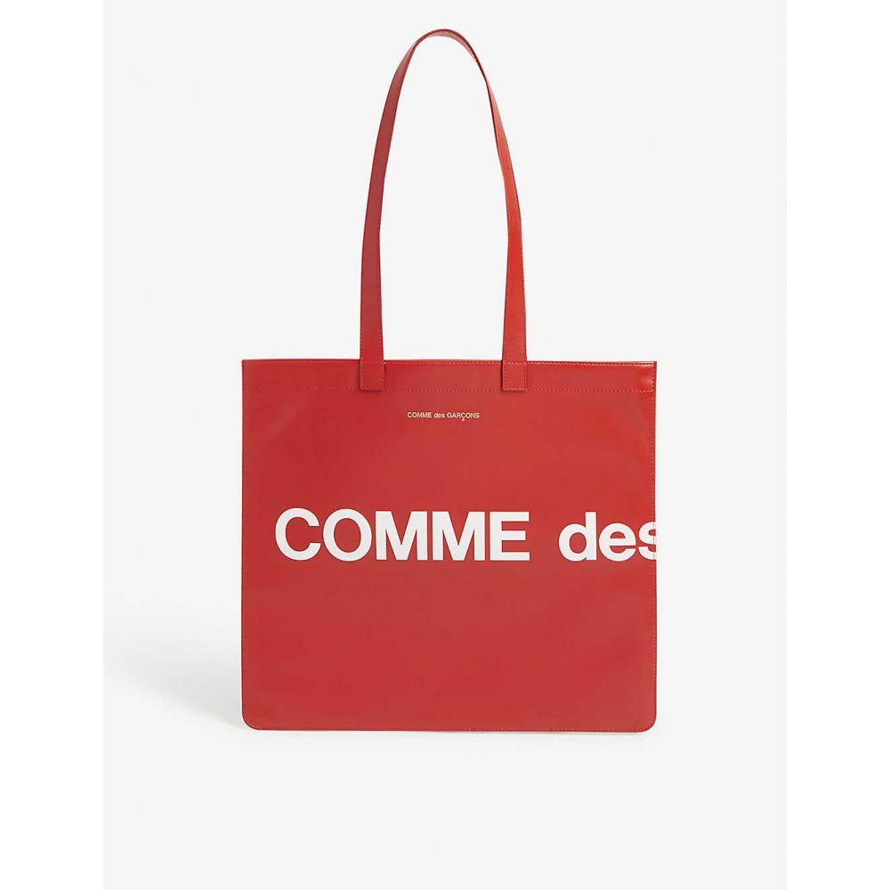 コム デ ギャルソン COMME DES GARCONS メンズ トートバッグ バッグ【Logo-print leather tote】RED