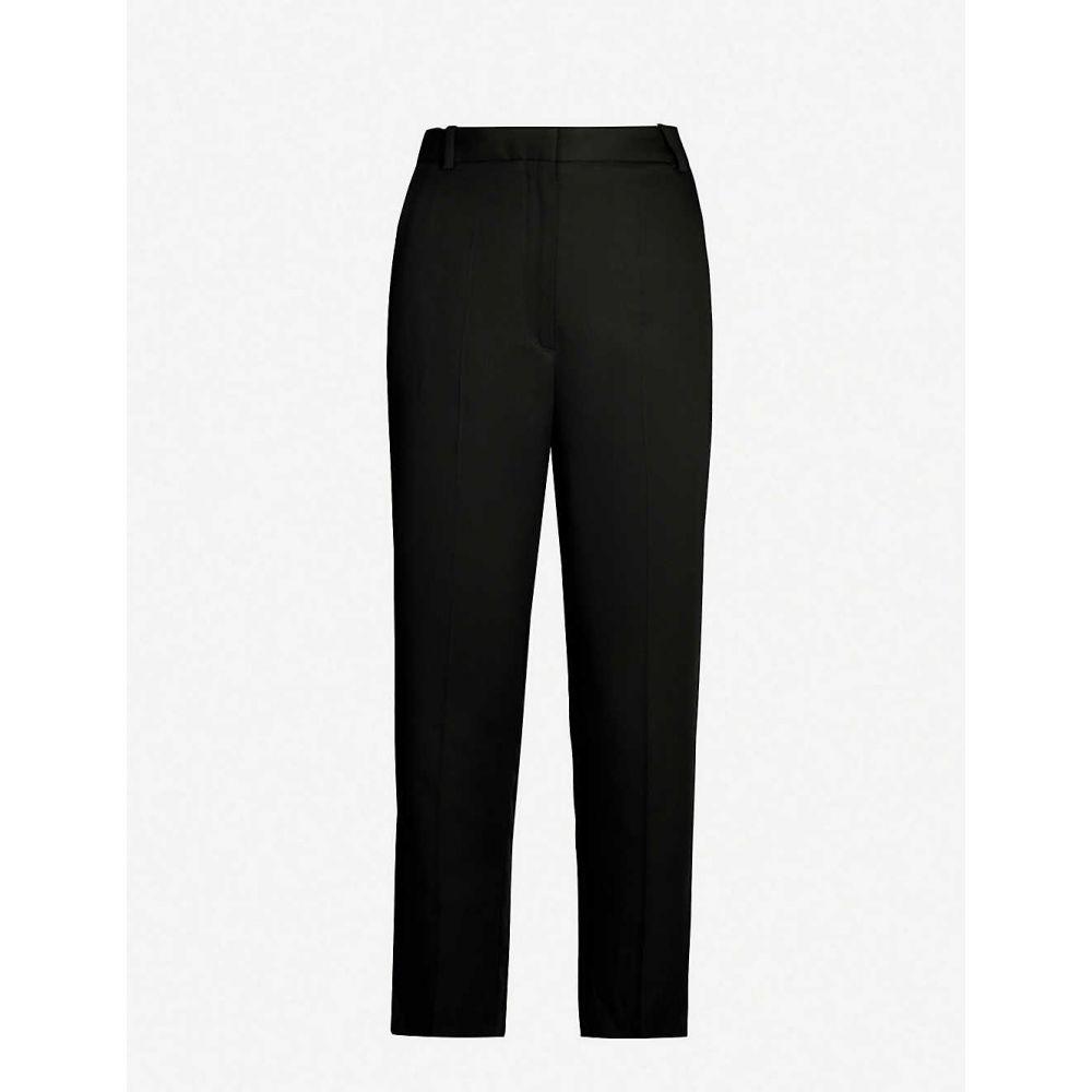 サンドロ SANDRO レディース クロップド ボトムス・パンツ【Cropped high-rise trousers】Black