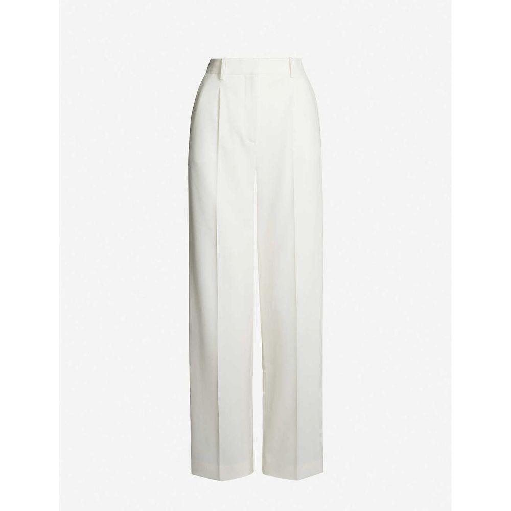 マージュ MAJE レディース ボトムス・パンツ 【Paz side-stripe twill trousers】Ecru