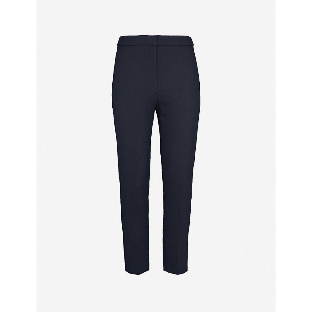 サンドロ SANDRO レディース ボトムス・パンツ 【Andy regular-fit tapered stretch-woven trousers】NAVY BLUE