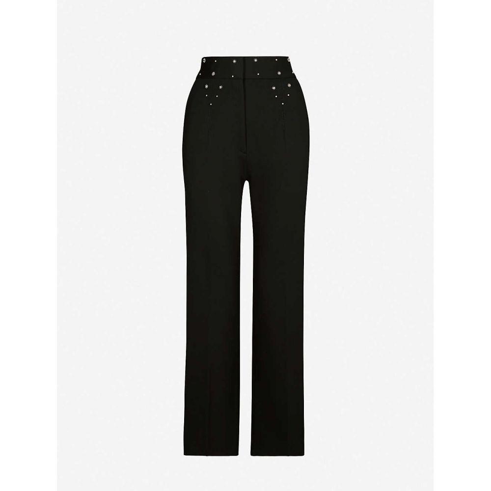 サンドロ SANDRO レディース ボトムス・パンツ 【Studdy straight stretch-woven trousers】Black