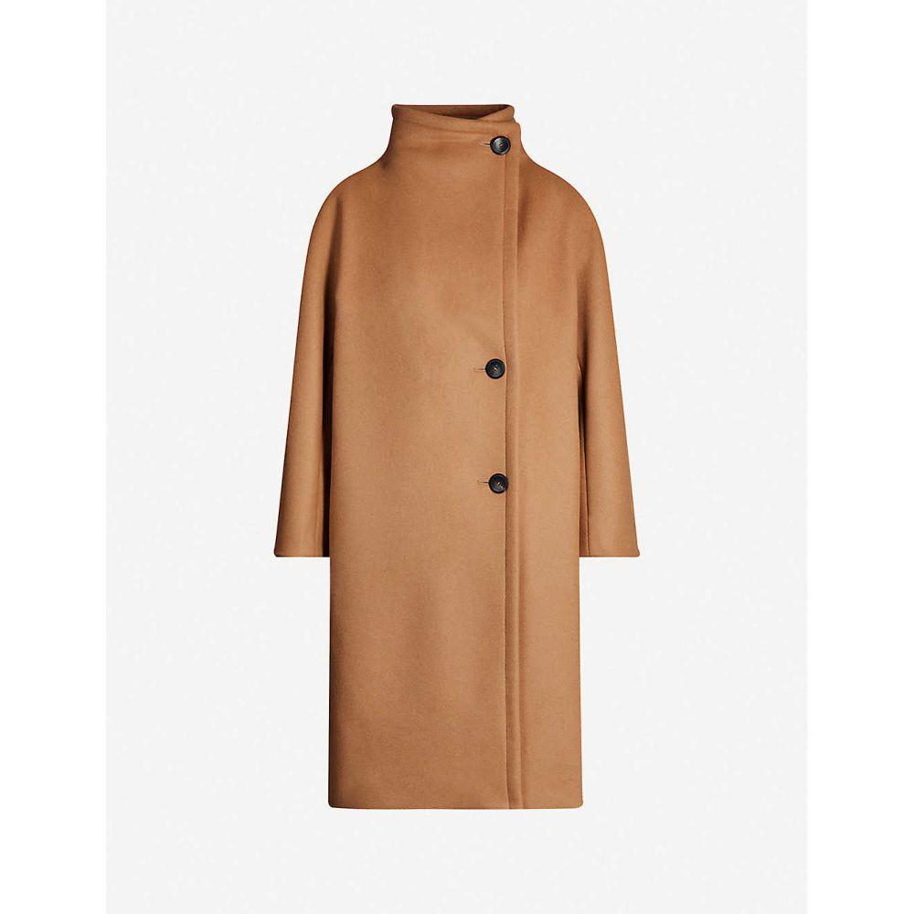 マージュ MAJE レディース コート アウター【Gaeli wool-blend coat】CAMEL