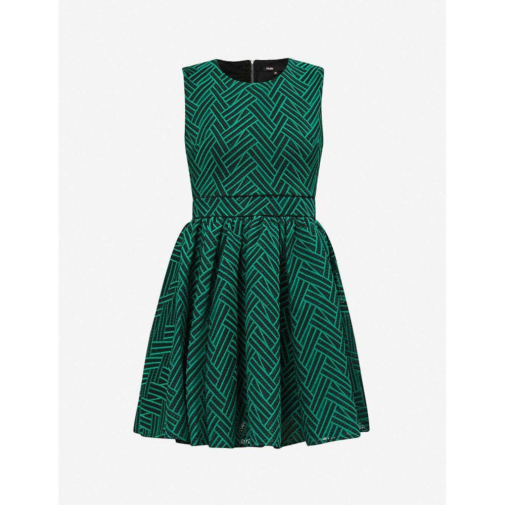 マージュ MAJE レディース パーティードレス ワンピース・ドレス【Reali brocade dress】GREEN