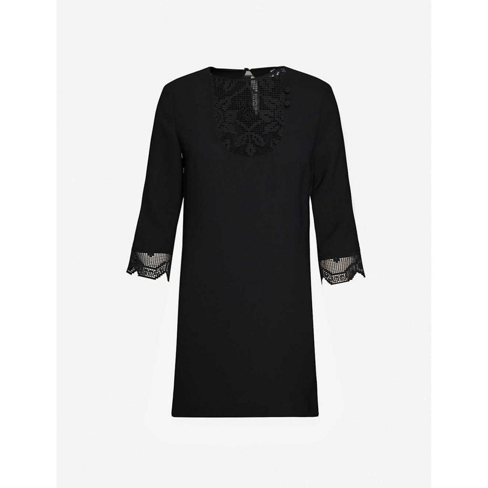 クローディ ピエルロ CLAUDIE PIERLOT レディース ワンピース ミニ丈 ワンピース・ドレス【Rizzie geometric-mesh woven mini dress】BLACK