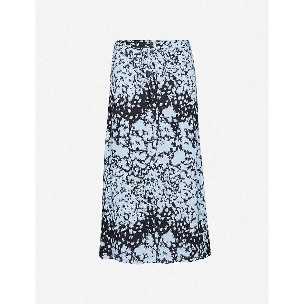 ホイッスルズ WHISTLES レディース ひざ丈スカート スカート【Abstract-print high-waist crepe midi skirt】MULTI/COLOURED