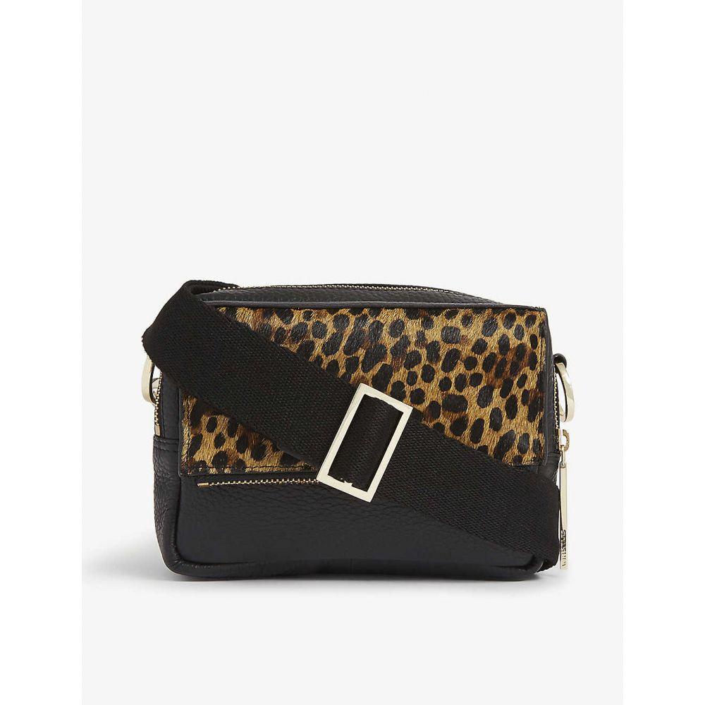 ホイッスルズ WHISTLES レディース ショルダーバッグ バッグ【Bibi leopard-printed crossbody bag】BLACK
