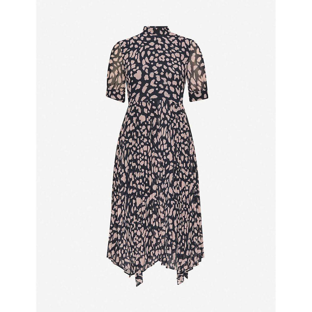 ホイッスルズ WHISTLES レディース ワンピース ミドル丈 ワンピース・ドレス【Cheetah print pleated midi dress】MULTI/COLOURED