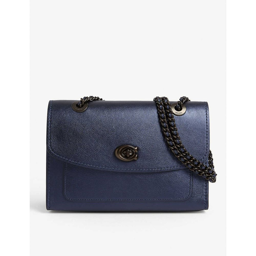 コーチ COACH レディース ショルダーバッグ バッグ【Parker leather shoulder bag】V/midnight Blue