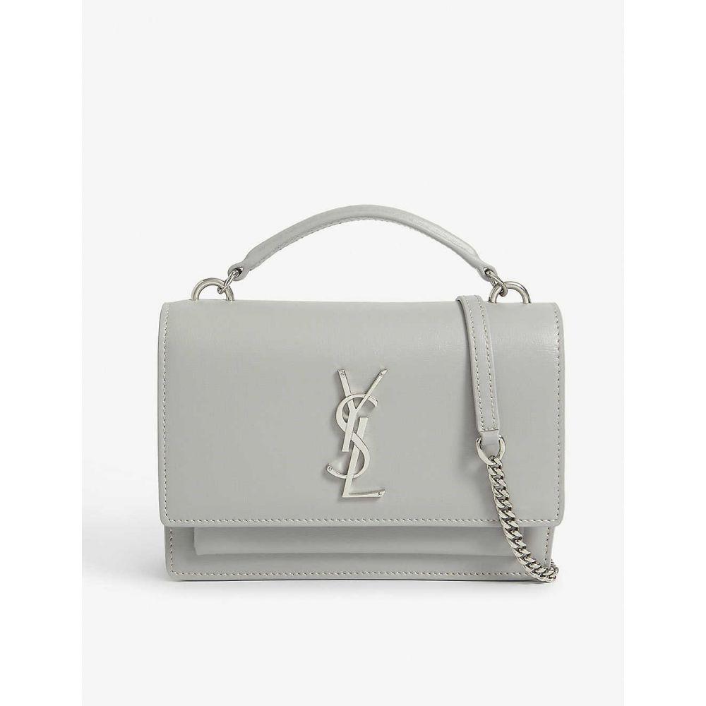 イヴ サンローラン SAINT LAURENT レディース ショルダーバッグ バッグ【Sunset leather shoulder bag】Granite L Grey