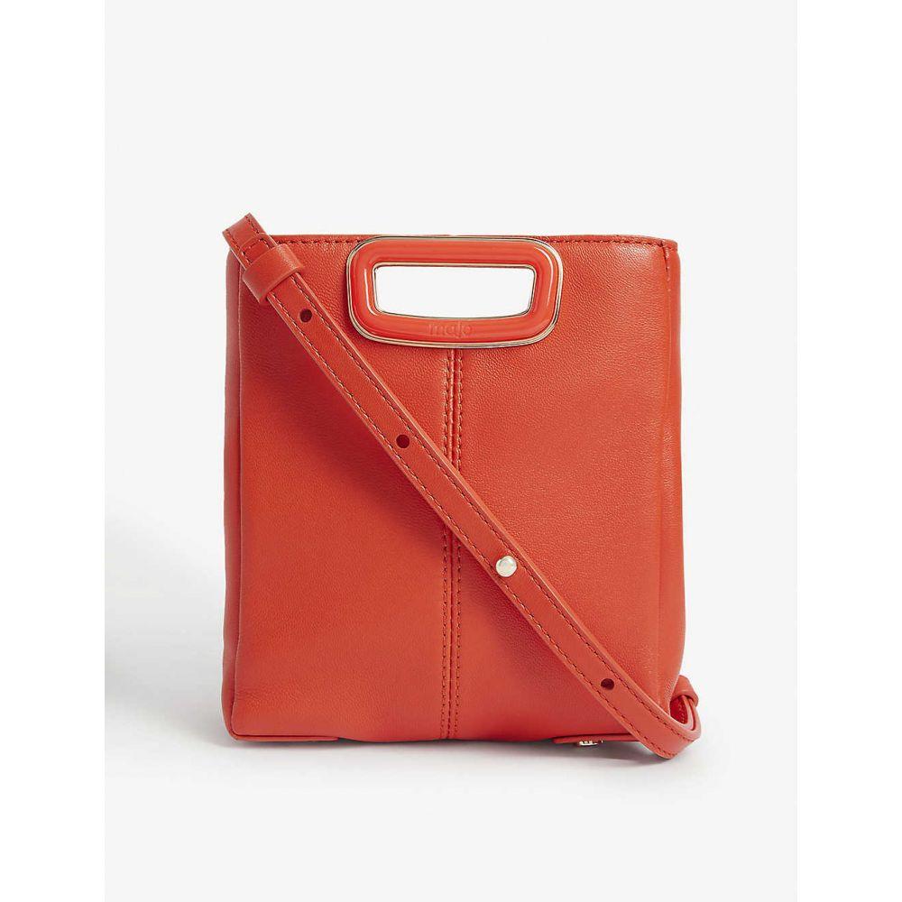 マージュ MAJE レディース ショルダーバッグ バッグ【Mini M leather shoulder bag】RED