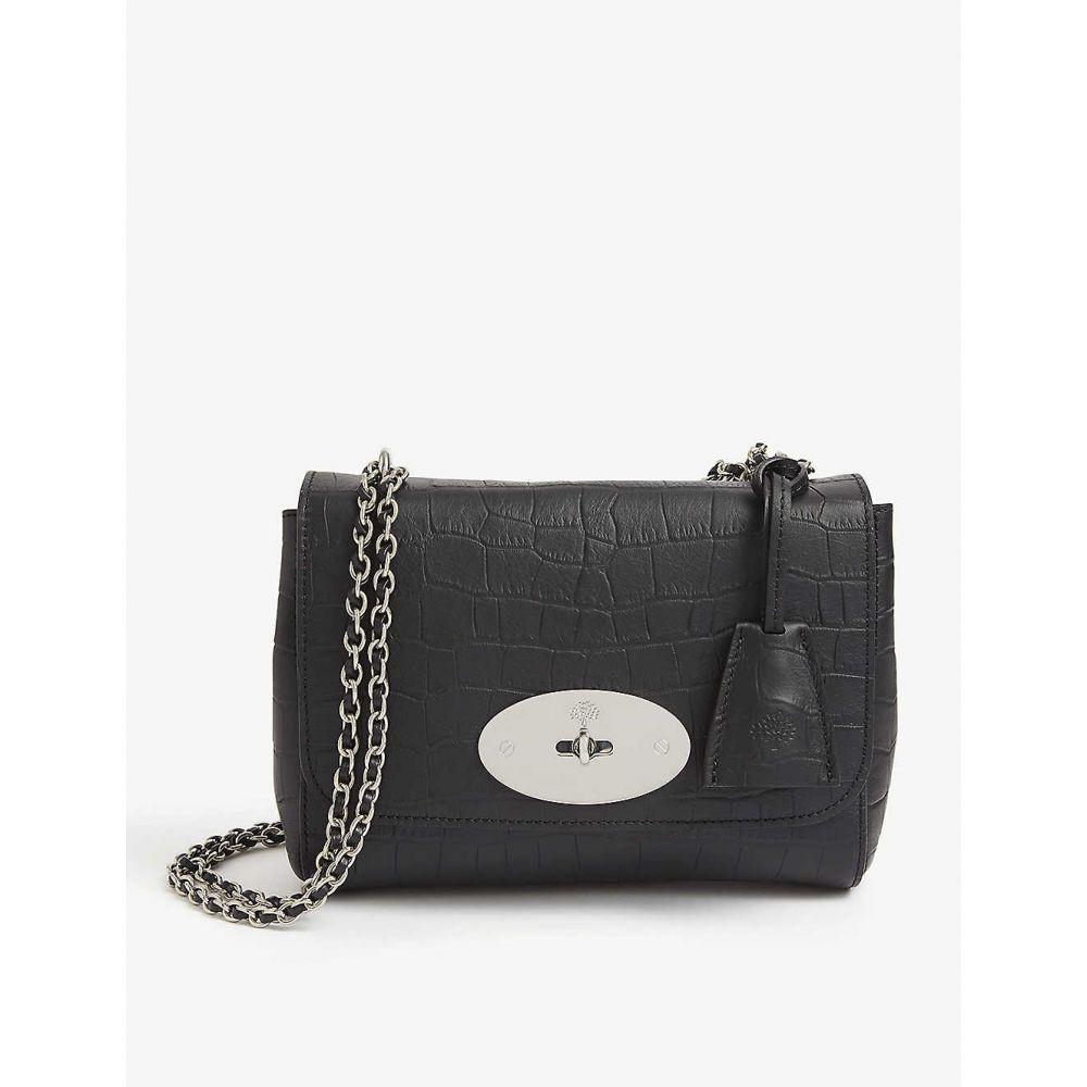 マルベリー MULBERRY レディース ショルダーバッグ バッグ【Lily croc-embossed-leather shoulder bag】BLACK
