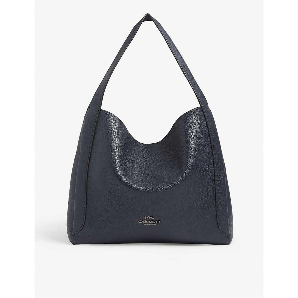 コーチ COACH レディース ショルダーバッグ バッグ【Hadley logo-plaque leather shoulder bag】Gm/midnight Navy