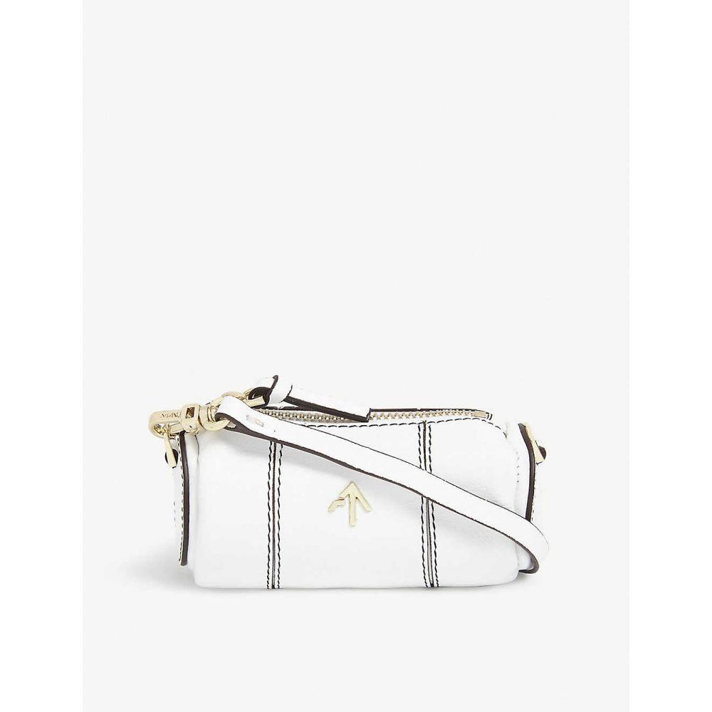 マニュ アトリエ MANU ATELIER レディース ショルダーバッグ バッグ【Cylinder micro leather shoulder bag】White