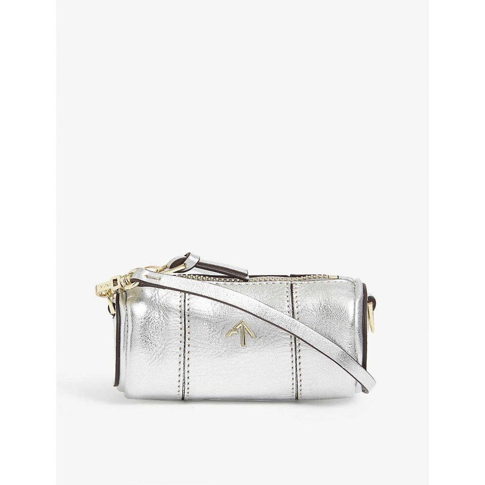 マニュ アトリエ MANU ATELIER レディース ショルダーバッグ バッグ【Cylinder micro leather shoulder bag】Silver