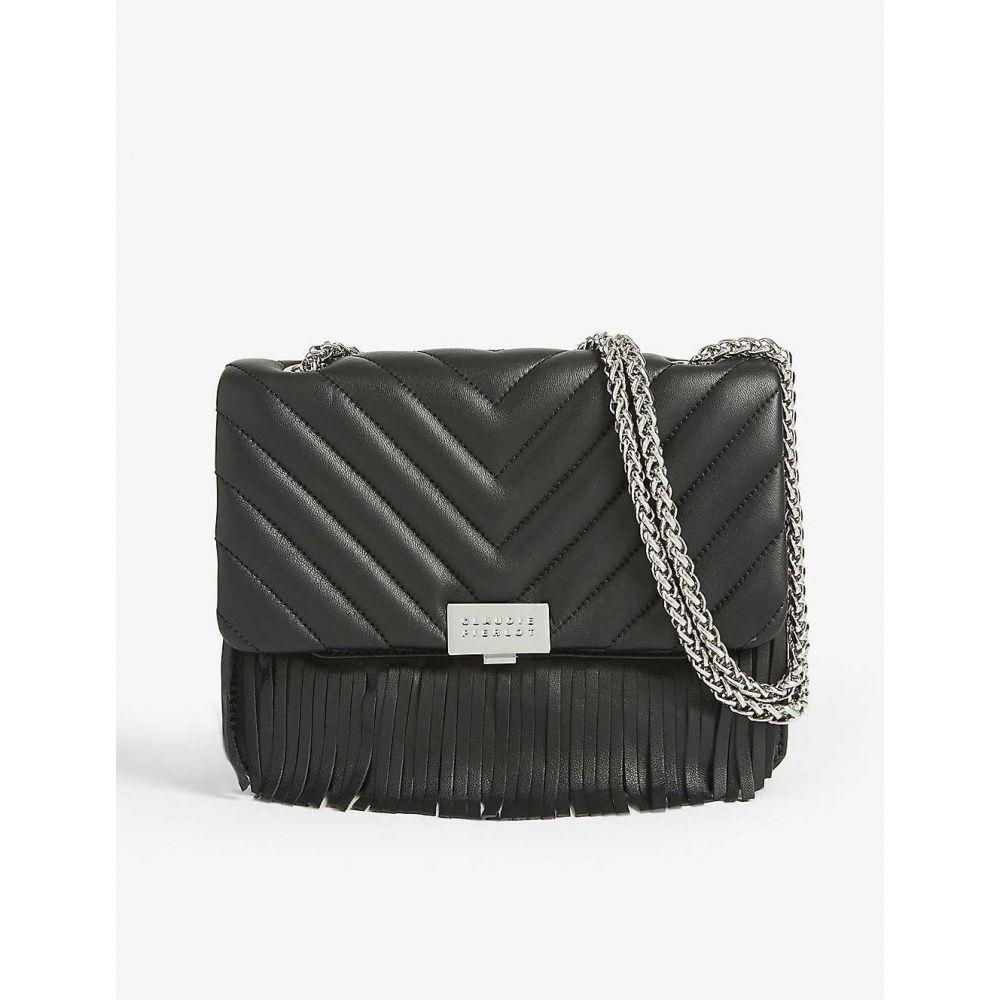 クローディ ピエルロ CLAUDIE PIERLOT レディース ショルダーバッグ バッグ【Angela leather shoulder bag】BLACK