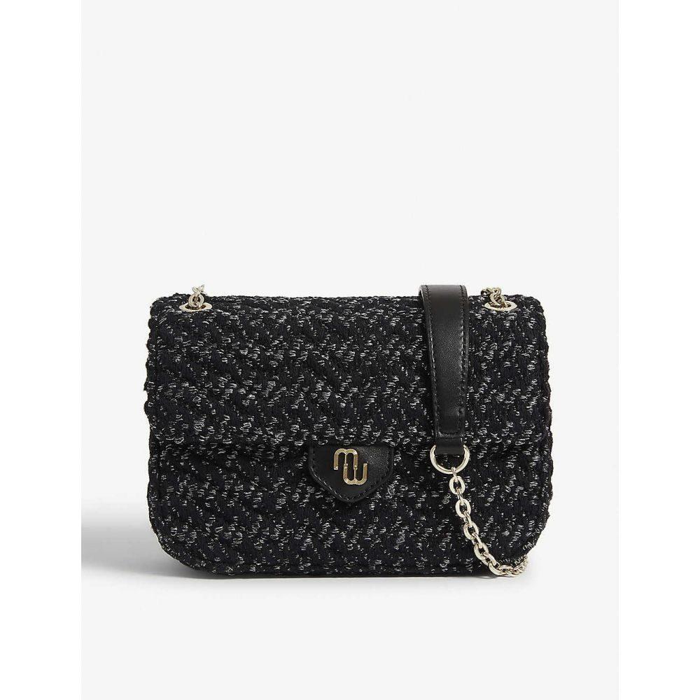 マージュ MAJE レディース ショルダーバッグ バッグ【Cute tweed cross-body bag】BLACK
