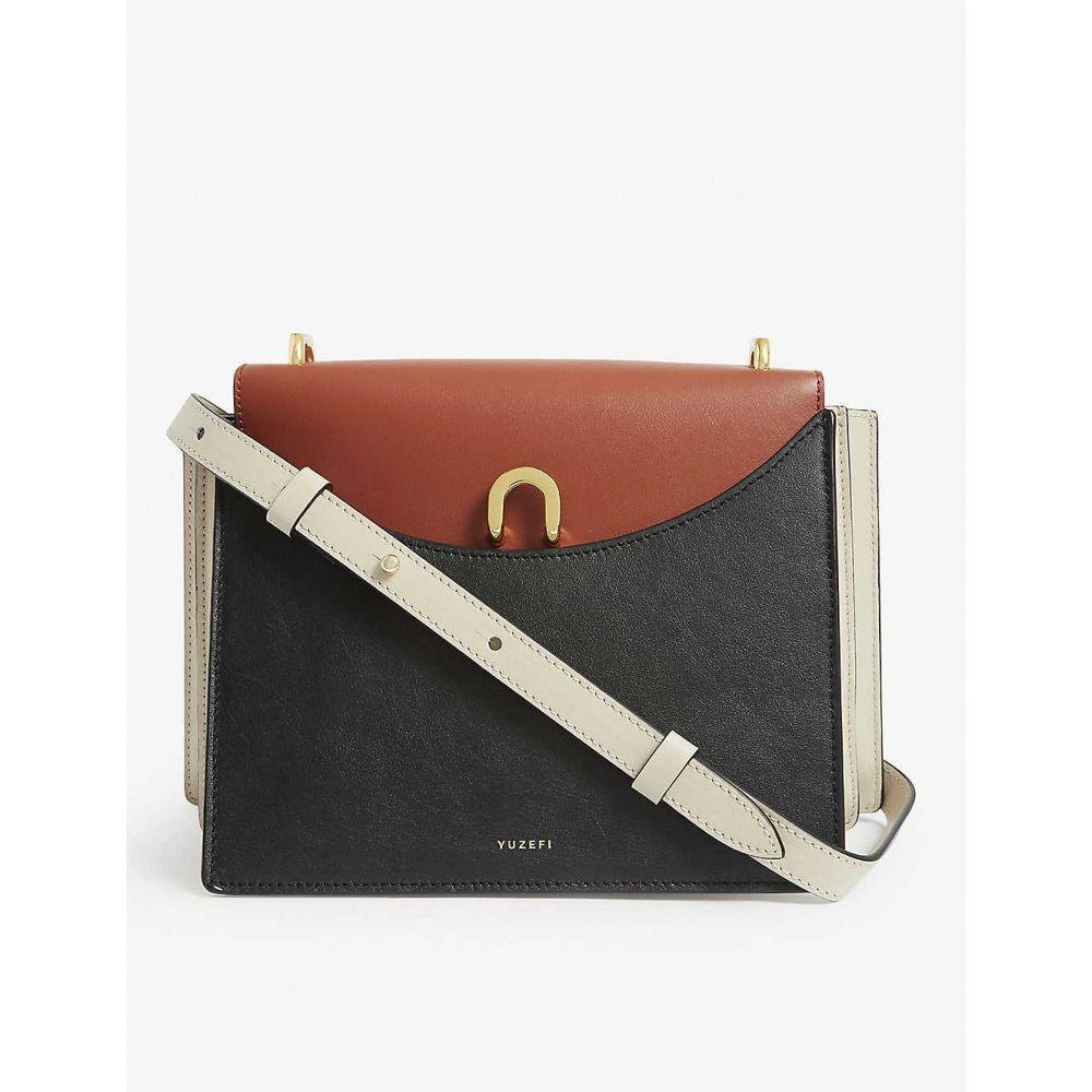 ユゼフィ YUZEFI レディース ショルダーバッグ バッグ【Eloise leather crossbody bag】BLACK /TAN