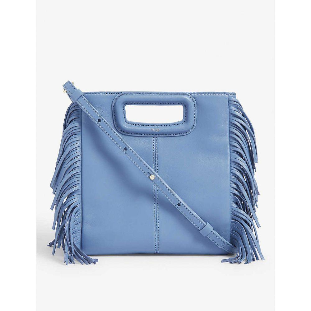マージュ MAJE レディース ショルダーバッグ バッグ【M leather shoulder bag】BLUE