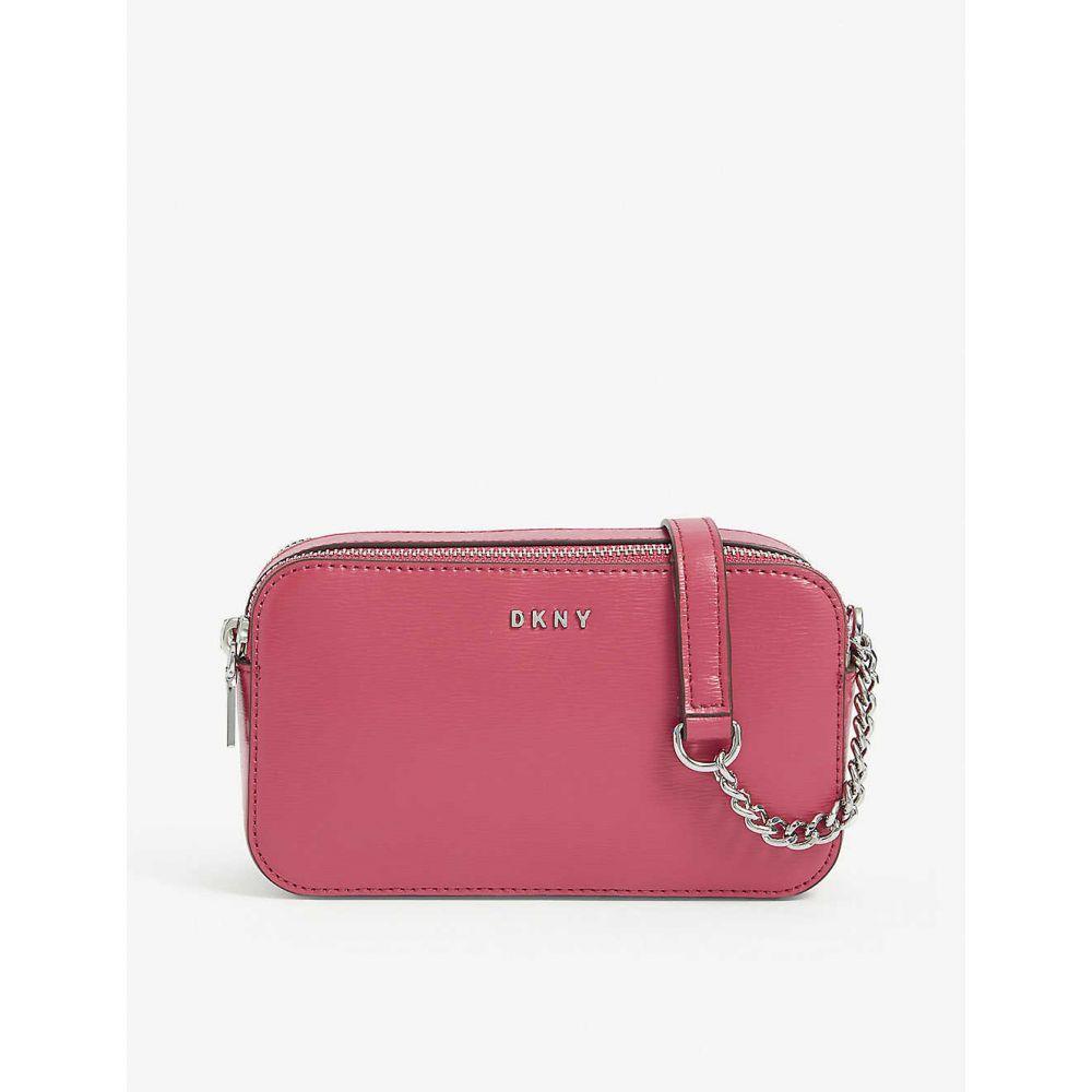 ダナ キャラン ニューヨーク DKNY レディース ショルダーバッグ カメラバッグ バッグ【Bryant double-zip leather camera bag】Electric Pink