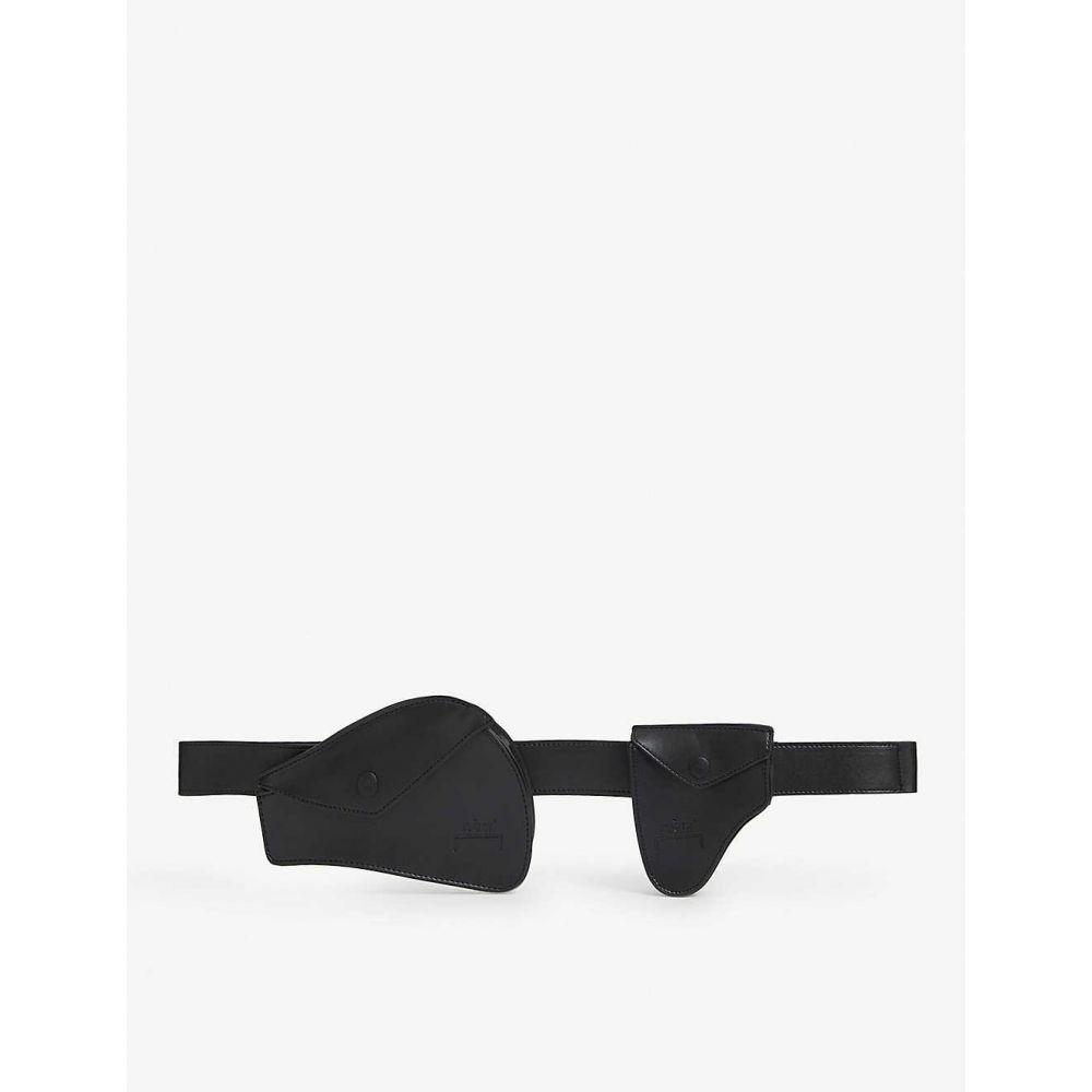 アコールドウォール A-COLD-WALL レディース ボディバッグ・ウエストポーチ バッグ【Two pouch leather holster belt】BLACK