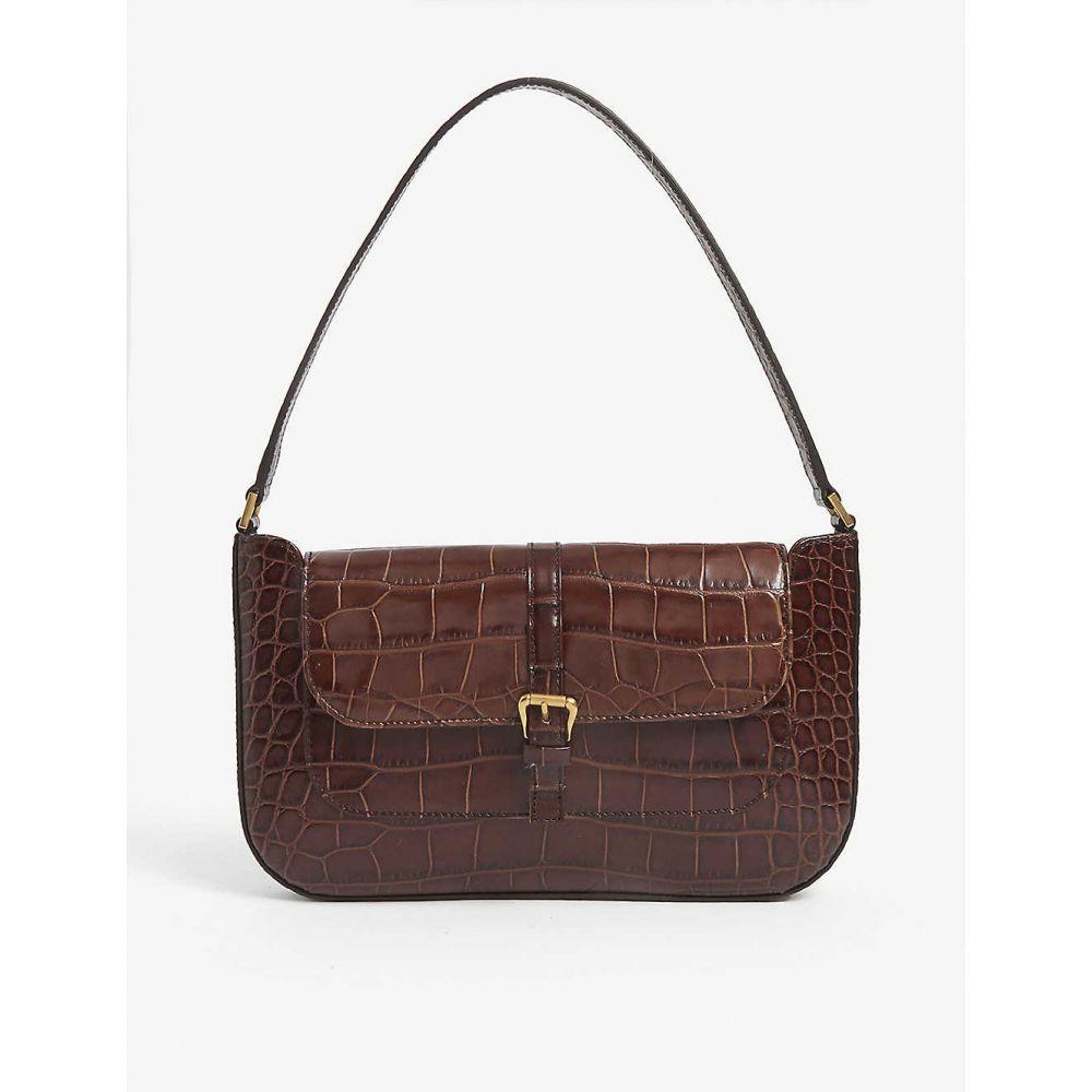 バイ ファー BY FAR レディース ショルダーバッグ バッグ【Miranda mini leather shoulder bag】Nutella