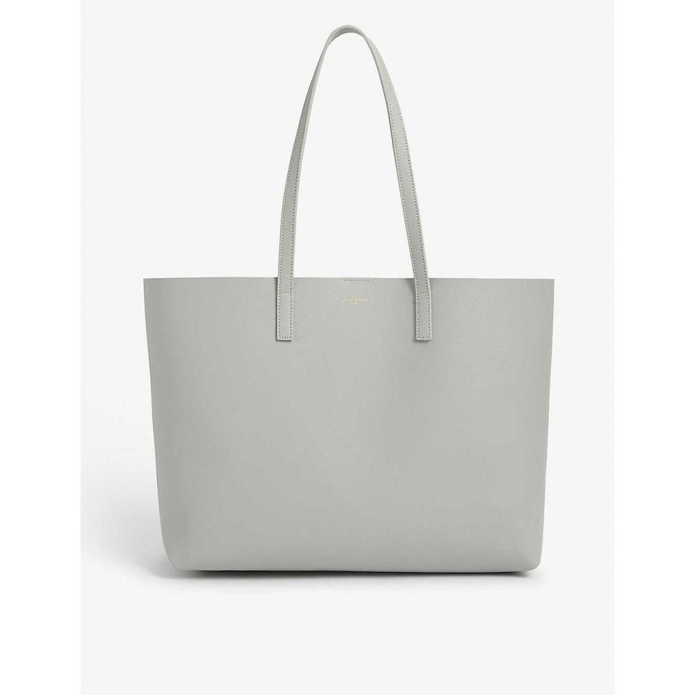 イヴ サンローラン SAINT LAURENT レディース トートバッグ バッグ【Leather tote bag】Granite L Grey