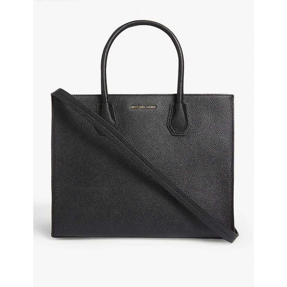 マイケル コース MICHAEL KORS レディース トートバッグ バッグ【Mercer large leather tote】BLACK