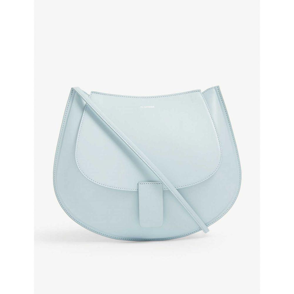 ジル サンダー JIL SANDER レディース ショルダーバッグ バッグ【Crescent curved leather shoulder bag】Sky