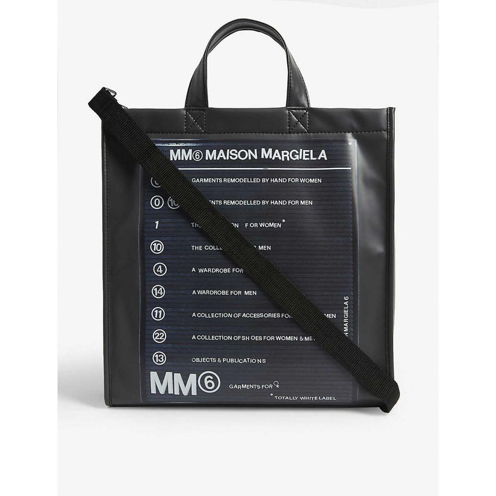 メゾン マルジェラ MM6 MAISON MARGIELA レディース トートバッグ バッグ【Logo-print shell tote】BLACK