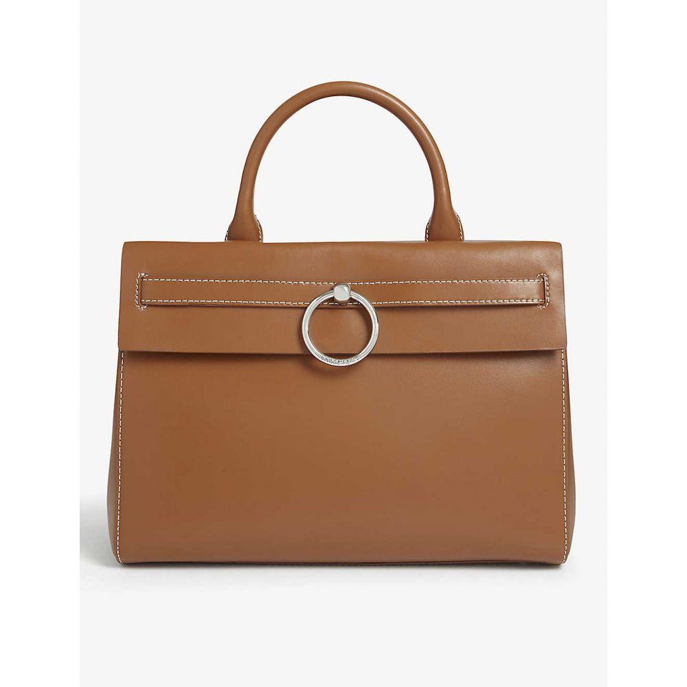 クローディ ピエルロ CLAUDIE PIERLOT レディース トートバッグ バッグ【Leather tote bag】CARAMEL