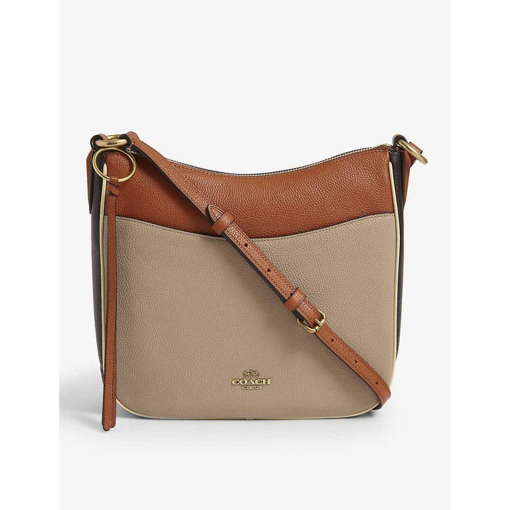 コーチ COACH レディース ショルダーバッグ バッグ【Chaise leather cross-body bag】B/taupe Ginger Multi