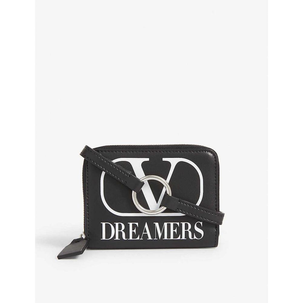ヴァレンティノ VALENTINO メンズ 財布 【Dreamers logo-printed leather neck wallet】Nero Bianco