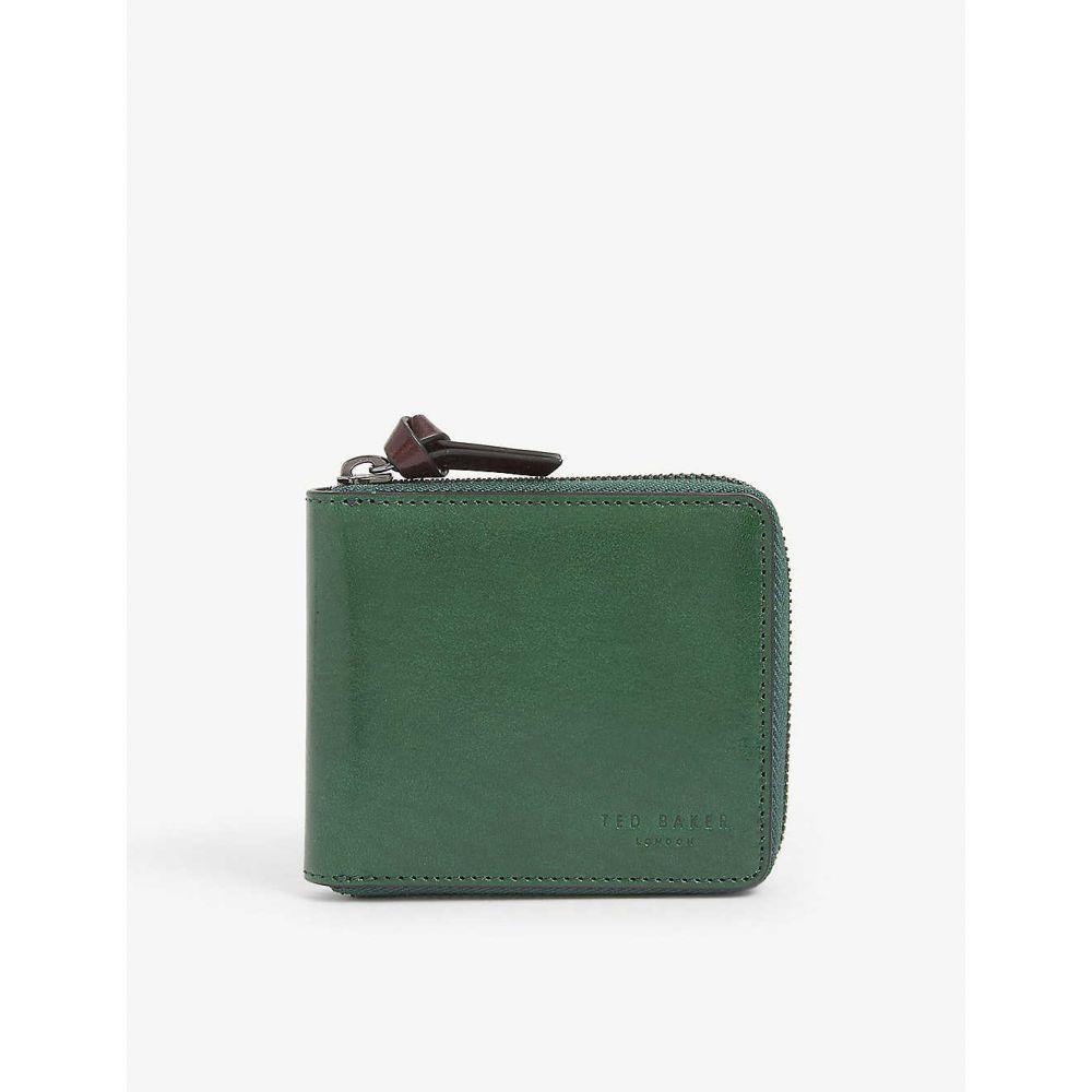 テッドベーカー TED BAKER メンズ 財布 【Spennie zip-around leather wallet】GREEN