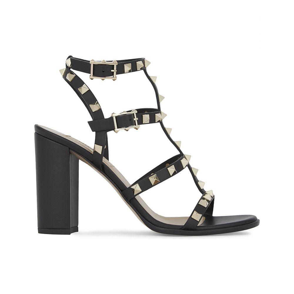 ヴァレンティノ VALENTINO レディース サンダル・ミュール シューズ・靴【Rockstud 90 leather heeled sandals】Black